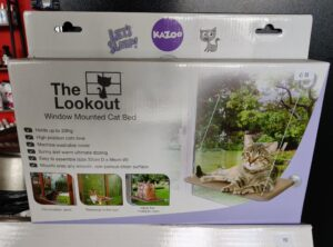 """Kazoo """"The lookout"""" window mounted cat bed"""